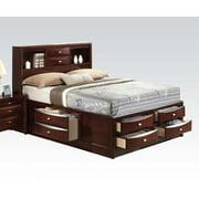 Ireland Black / Espresso Eastern King Bed With Multi-Drawers Storage Headboard New