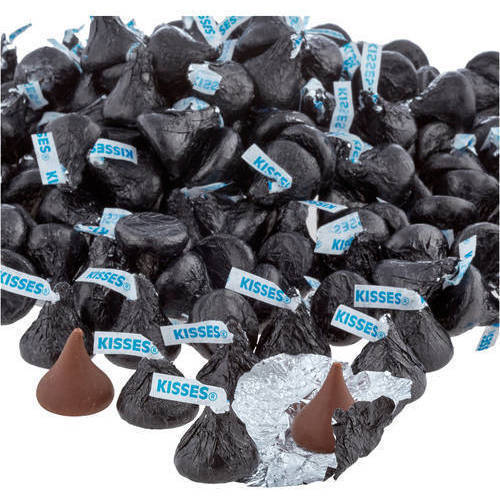 Kisses Milk Chocolate Candy Black Foil, 4.1 lb - Online Only