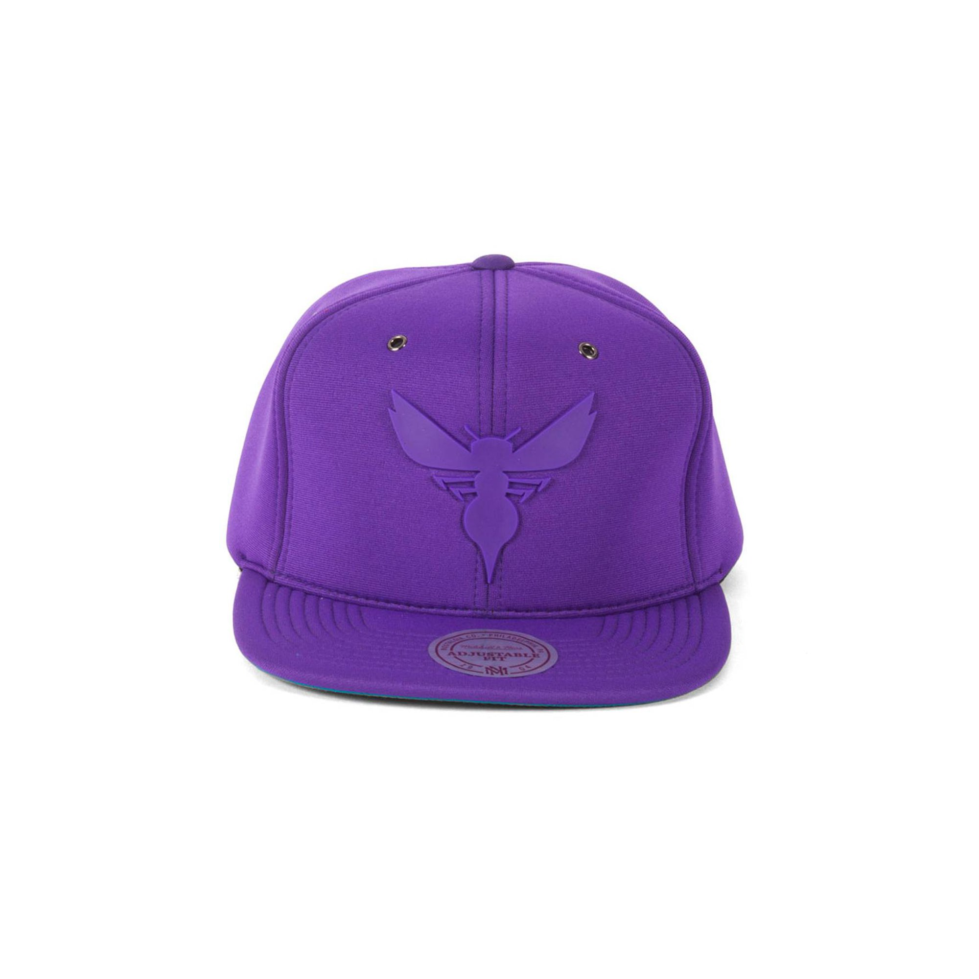 official photos 139cf 815ff Mitchell & Ness Charlotte Hornets Purple Neoprene Adjustable Cap