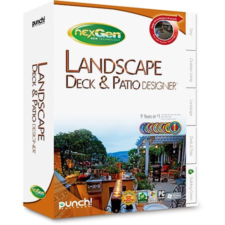 Landscape deck patio designer with nexgen technology for Punch home landscape design with nexgen technology