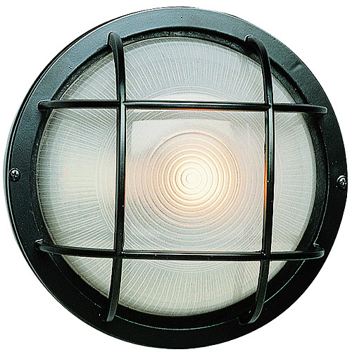 "BelAire Port Hole Bulkhead 8"" Outdoor Light, Black"