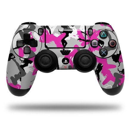 Skin Wrap for Sony PS4 Dualshock Controller Sexy Girl Silhouette Camo Hot Pink Fuschia (CONTROLLER NOT