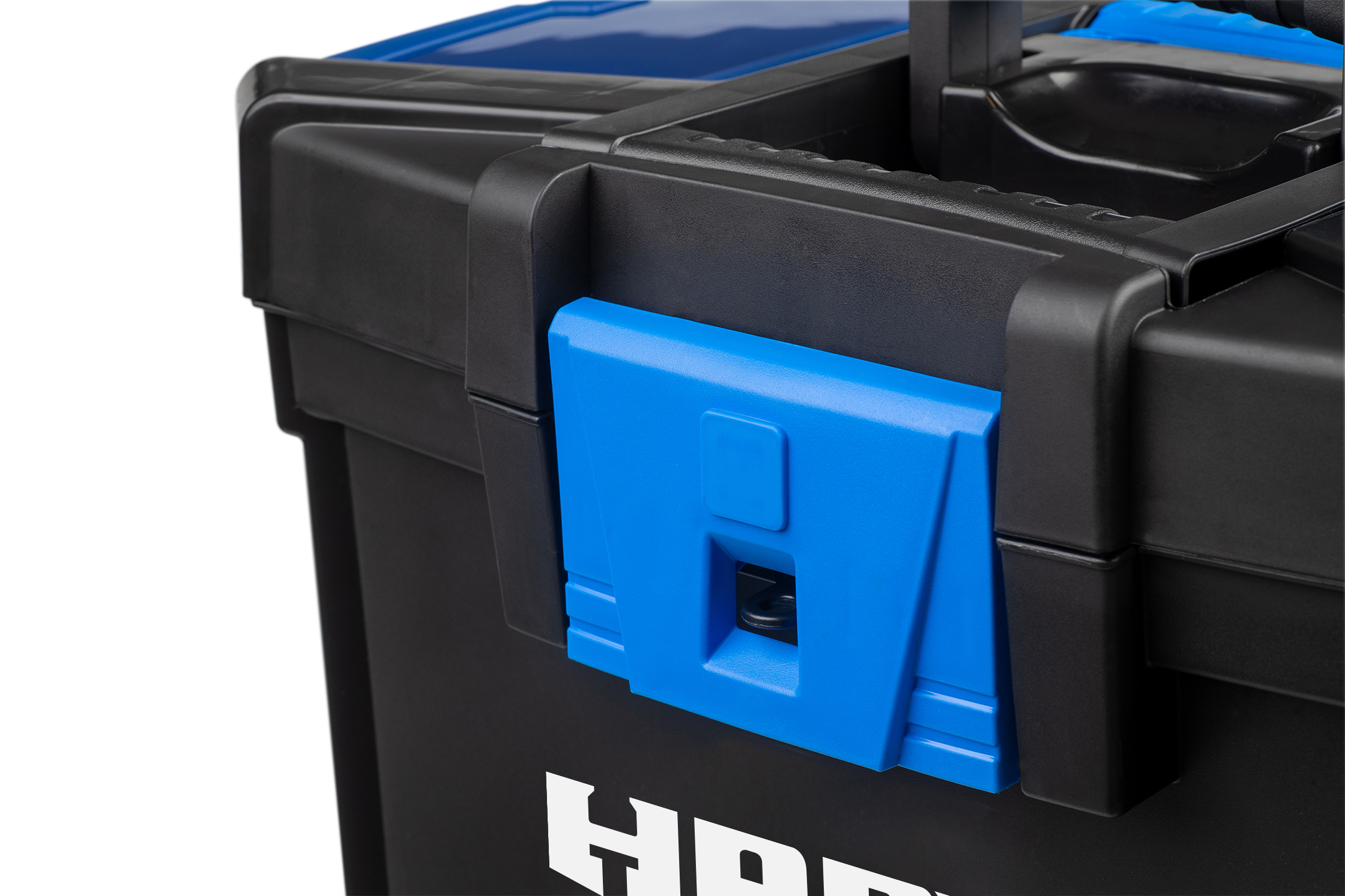 Hart 3 In 1 16 Inch Rolling Plastic Tool Box Black And Blue