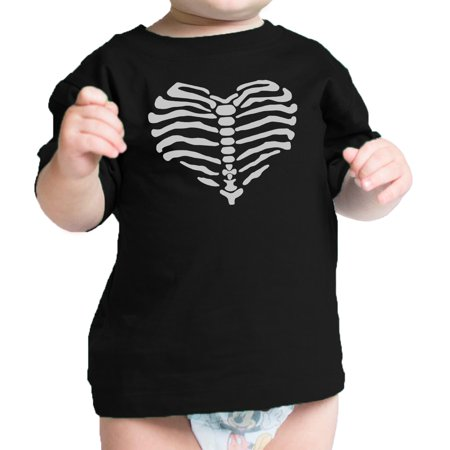Heart Skeleton Shirt Halloween Outfit Baby Shirt Graphic Infant Tee - Skeleton Outfit