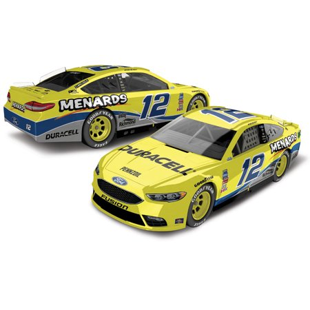 Ryan Blaney Action Racing 2018 #12 Duracell/Menards Throwback Darlington Raceway 1:64 Regular Paint Die-Cast Ford Fusion - No - Nascar Pocono Raceway