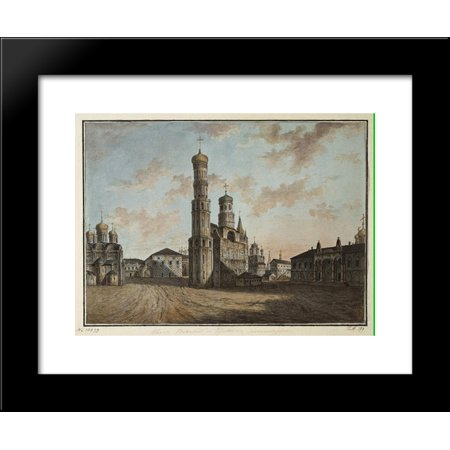 Ivan the Great Bell Tower and Chudov Monastery in the Kremlin 20x24 Framed Ar...