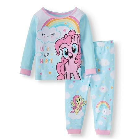 Cotton Tight Fit Pajamas, 2-piece Set (Baby Girls)