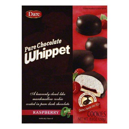 Dare Raspberry Pure Chocolate Whippet Cookies, 8.8 OZ (Pack of