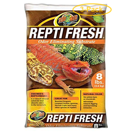 Zoo Med Repti Fresh Odor Eliminating Substrate 8 lbs - Pack of 3 Repti Sand Substrate