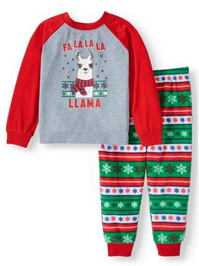 Matching Family Christmas Pajamas Toddler Boy or Girl Unisex 2-Piece Llama Sleep Set