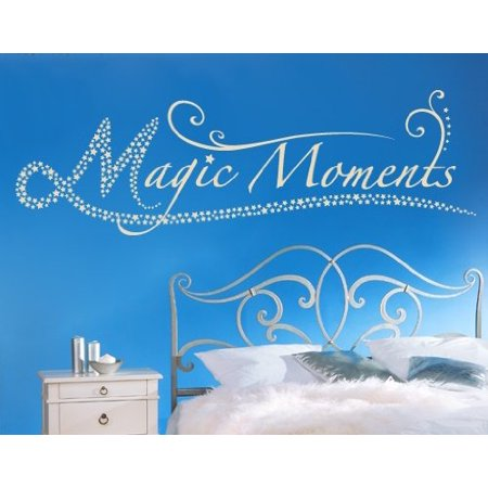 Magic Moments Quote with Stars Wall Decal Wall Sticker Vinyl Wall Art
