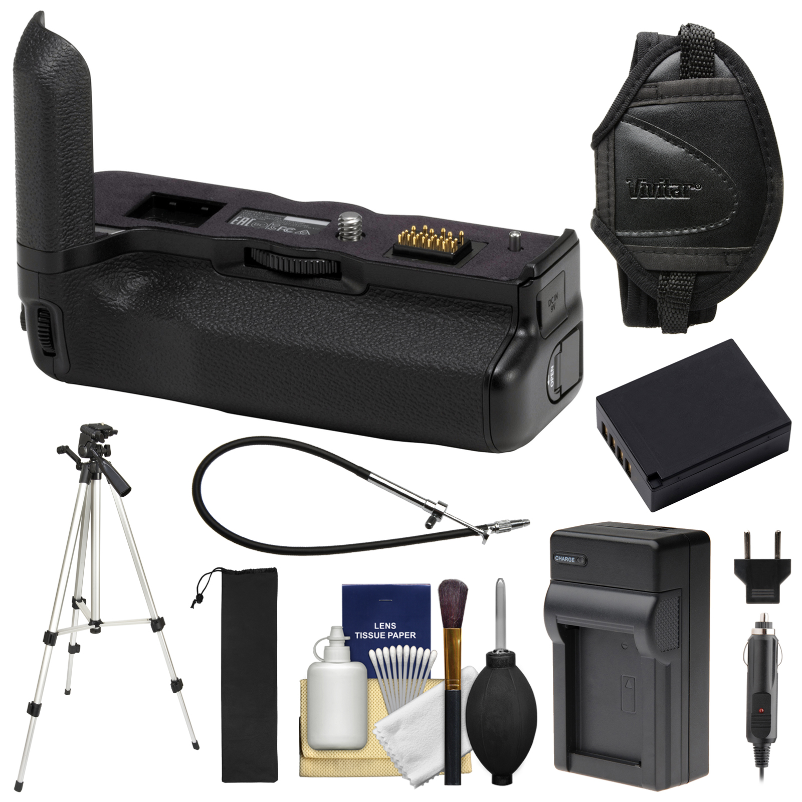 Fujifilm VPB-XT3 Vertical Power Booster Battery Grip for X-T3 Cameras with Battery & Charger + Tripod + Strap + Kit