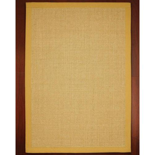 natural area rugs roma gold sisal rug 4u0027 x 6u0027 with bonus