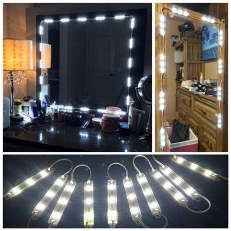10ft LED Vanity Mirror Lights Kit with Dimmable Light Bulbs, Lighting Fixture Strip for Cosmetic Makeup Vanity Table Set in Dressing Room, with Remote Control and Power Supply (Mirror Not Include)