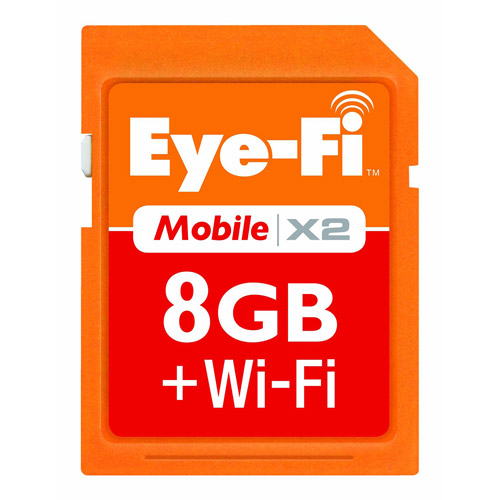Eye-Fi Mobile X2 8GB SDHC with Eye-Fi Memory Card