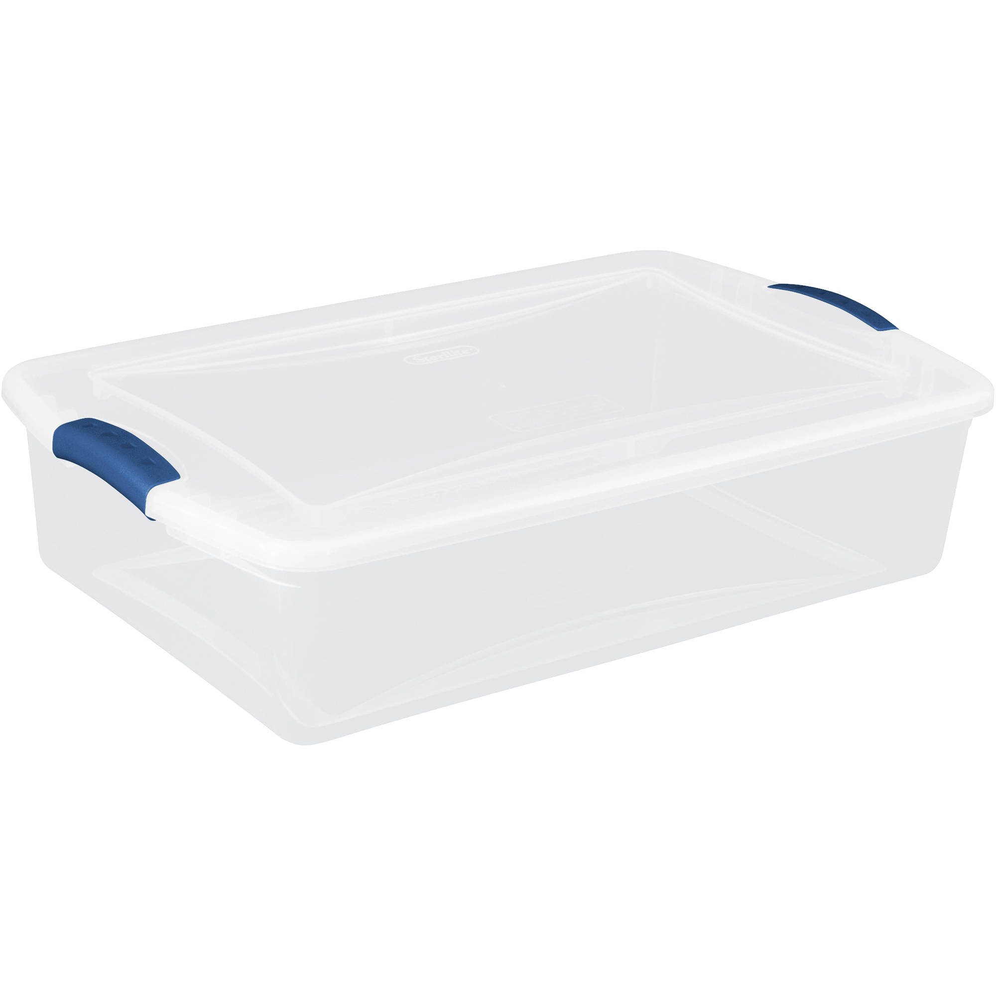 Sterilite 34 Quart Latch Box- Blue Eclipse, Set of 6