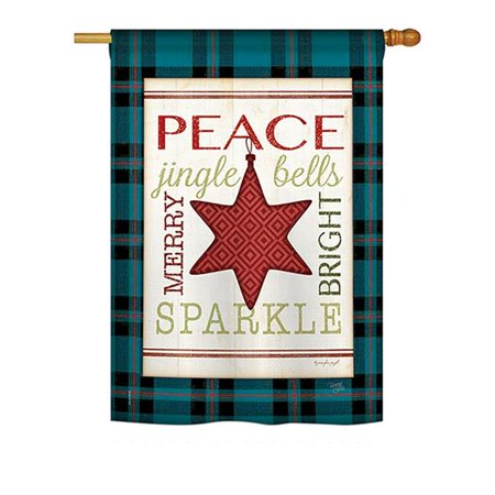 Breeze Decor BD-XM-H-114179-IP-BO-DS02-US Merry with Brighting Stars Winter - Seasonal Christmas Impressions Decorative Vertical House Flag - 28 x 40 in. - image 1 of 1