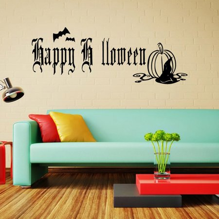 Happy Halloween Home Household Room Wall Sticker Mural Decor Decal Removable New