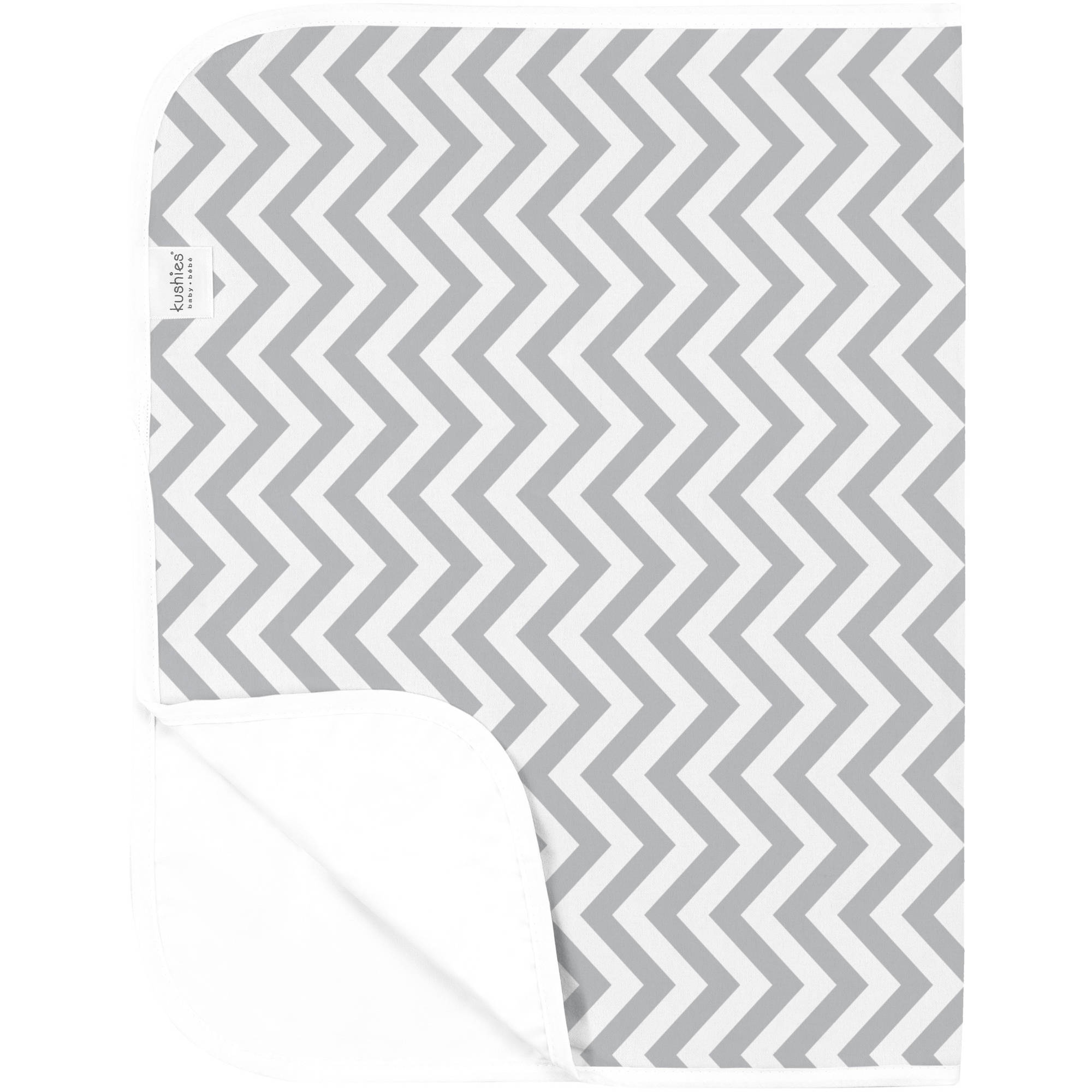 Kushies Deluxe Flannel Change Pad, Chevron Grey