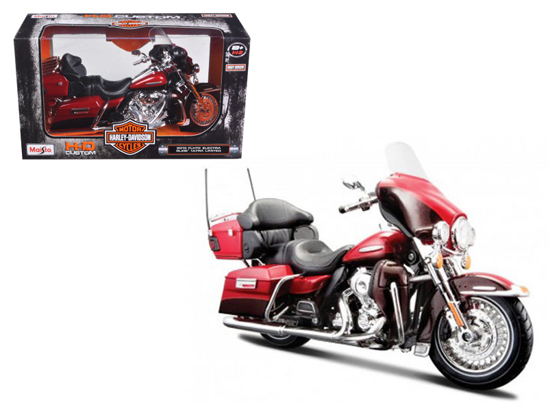 2013 Harley Davidson FLHTK Electra Glide Ultra Limited Red Bike Motorcycle Model 1 12 by... by Maisto