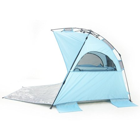 Outdoor 2-3 Persons Sun Shelter, Portable Pop Up Instant Cabana Canopy Anti-UV Sun Shade for Camping Fishing Picnic Beach Lake (Antigua Sun)