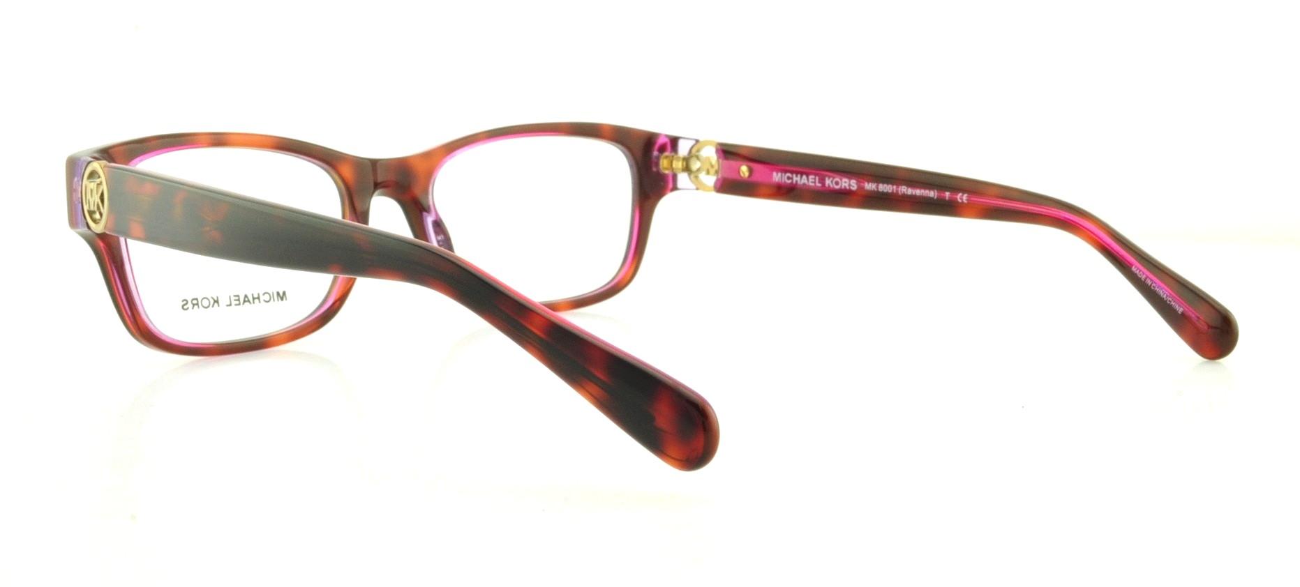 31cc82ac4ab4d5 MICHAEL KORS Eyeglasses MK8001 RAVENNA 3003 Tortoise Pink Purple 51MM -  Walmart.com