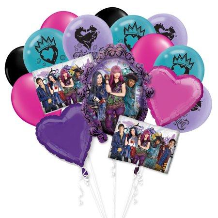 Disney Descendants 2 Birthday Girl Mal Uma 16 PC Party Gift Balloon Bouquet Decoration