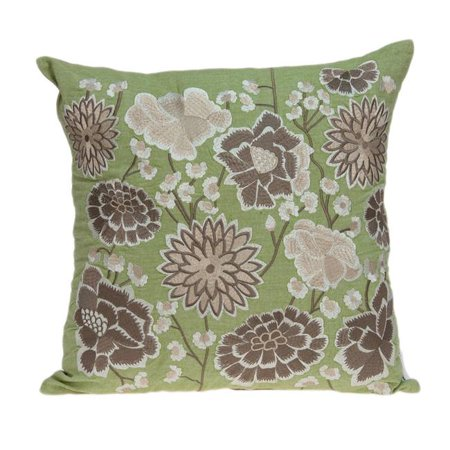Parkland Collection PILD11100C Adelia Green, Tan & Brown Square Tropical Pillow Cover - 20 x 20 x 0.5 in. - image 1 of 1