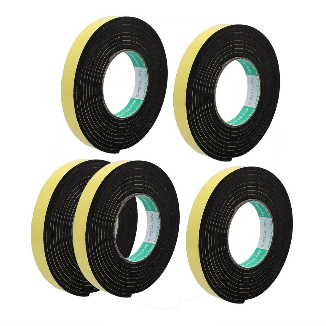 5pcs 3 Meter 20mm x 4mm Single-side Adhesive Shockproof Sponge Tape Yellow Black