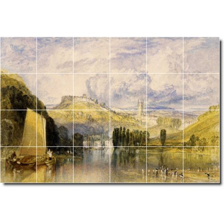 Ceramic Tile Mural Joseph Turner Landscapes Painting 374 25 5 w x 17