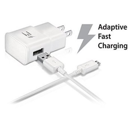 Samsung Galaxy Grand Prime Adaptive Fast Charger Micro USB 2 0 Cable Kit!  True Digital Adaptive Fast Charging uses dual voltages for up to 50% faster