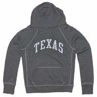 Texas Longhorns Hooded Sweatshirt - Ladies Hoody By League - Midnight Heather