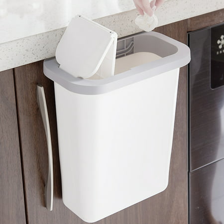 Hanging Trash Can Small Kitchen Garbage, Hanging Trash Can For Kitchen Cabinet Door