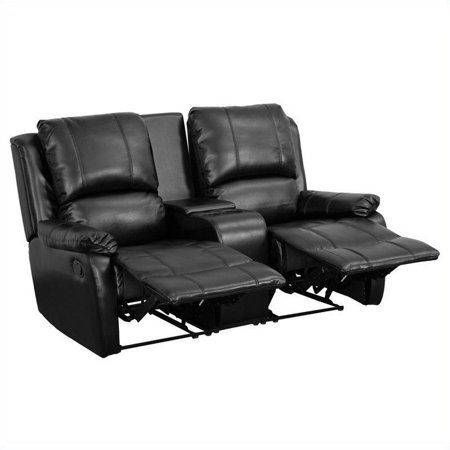 Flash Furniture 2-Seat Home Theater Recliner in Black - image 1 of 3