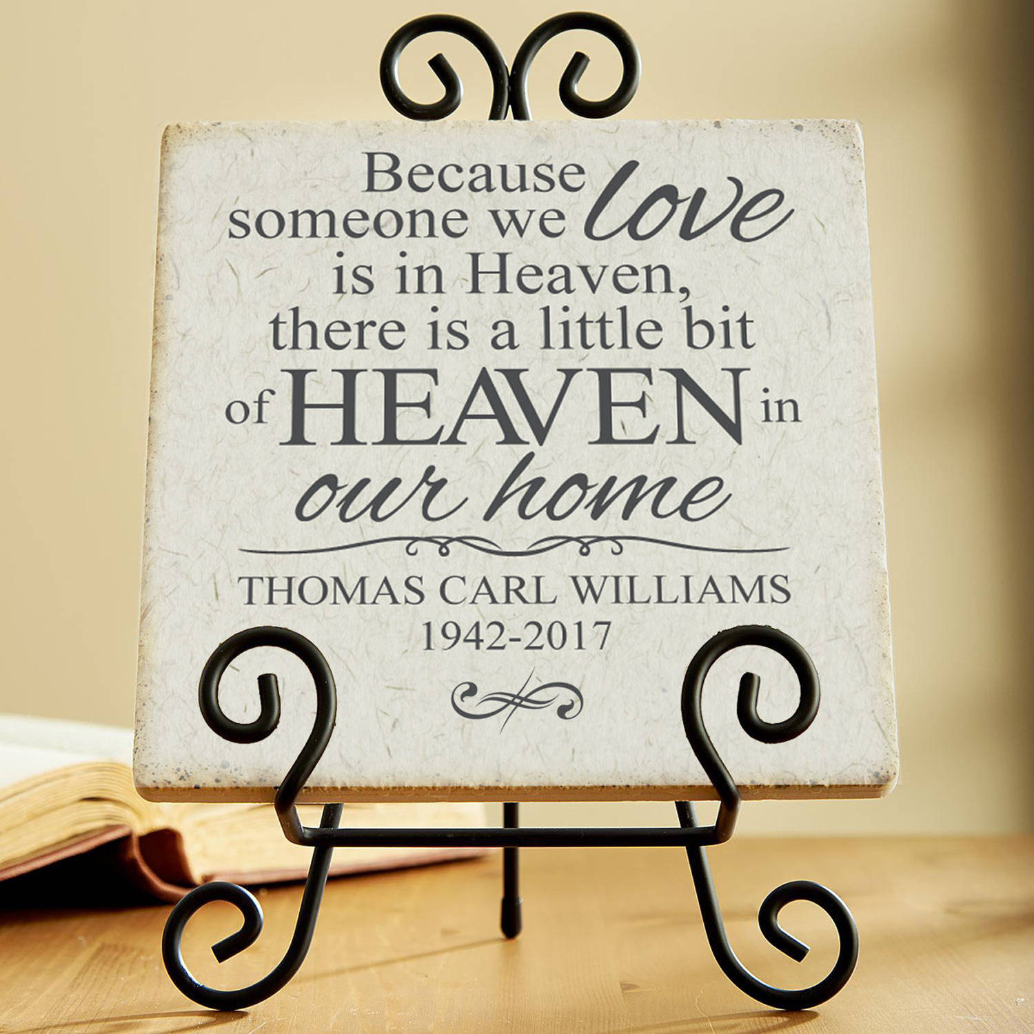 Personalized For Loved Ones in Heaven Tile