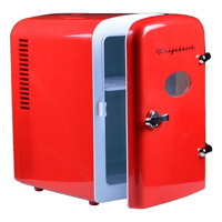 Frigidaire Portable Retro 6-can Mini Fridge EFMIS129, Red - Manufacturer Refurbished