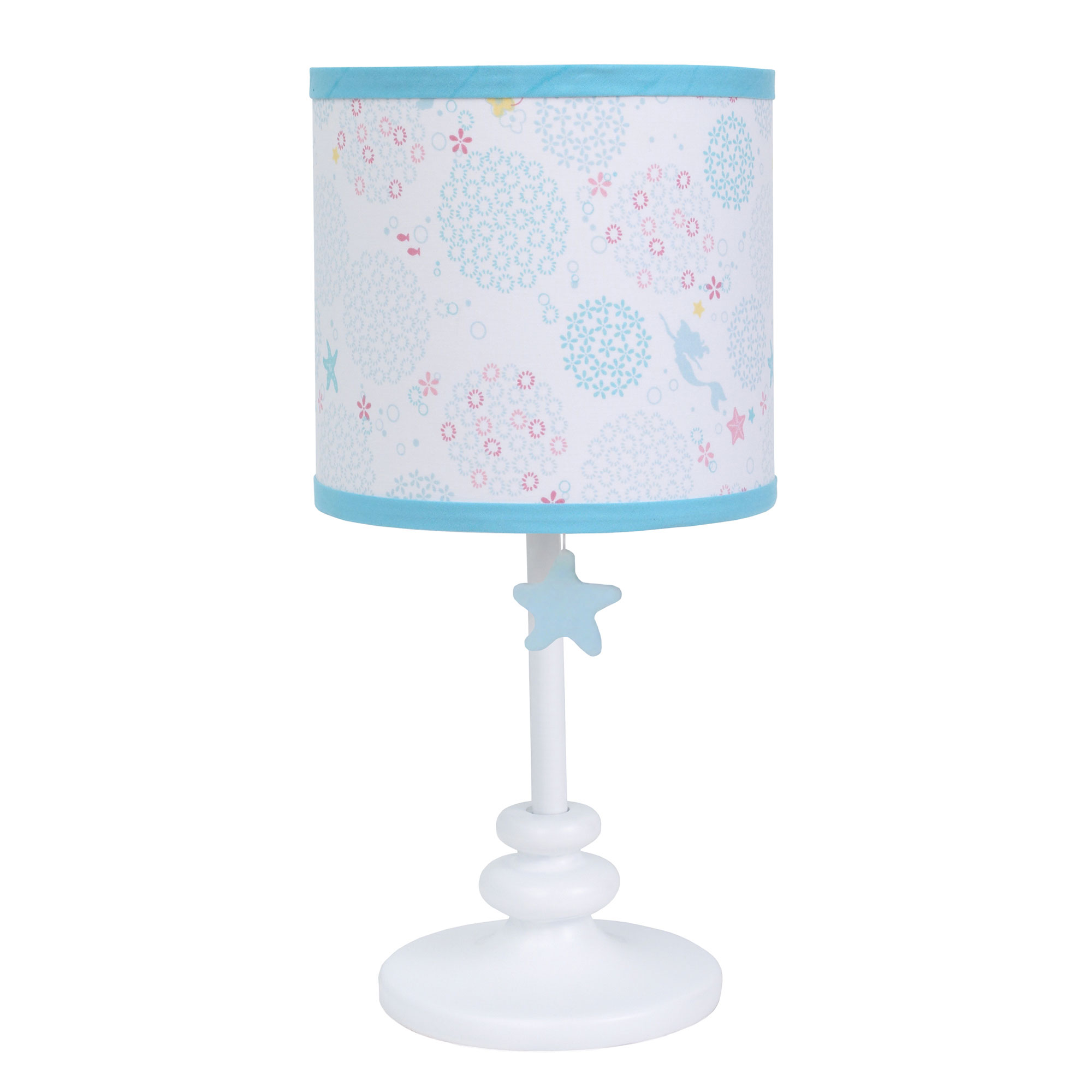 Baby Girl Lamp and Shade by Disney Ariel Sea Princess Collection The Little Mermaid by Crown Crafts