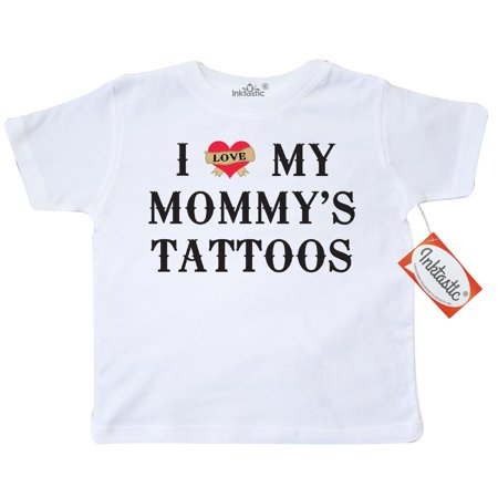 Inktastic I Love My Mommy's Tattoos Toddler T-Shirt Mommy Tattoo Mother Mothers Day Funny Baby Laughs Humor Humorous Tees. Gift Child Preschooler Kid Clothing Apparel