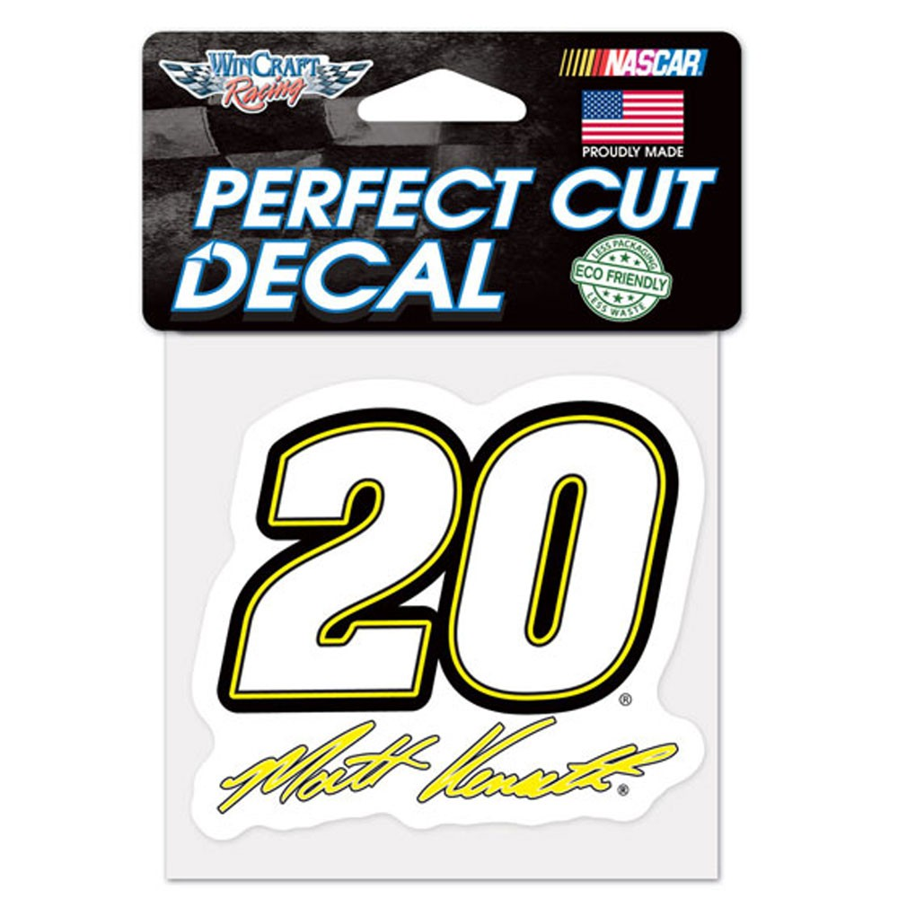 Matt Kenseth Official NASCAR 4 inch x 4 inch  Die Cut Car Decal by Wincraft