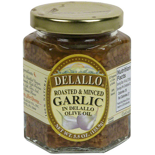 ***Discontinued by Kehe 5_19***Delallo Roasted & Minced Garlic, 5.5 oz (Pack of 6)