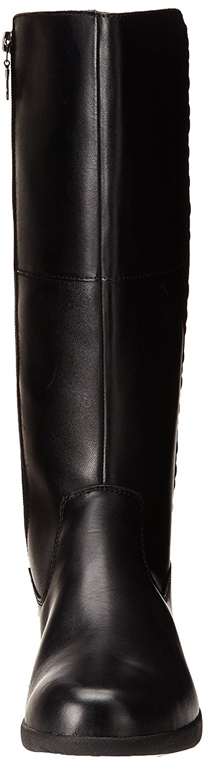 Use-Custom-Brand Womens Lillian Leather Weather Closed Toe Knee High Cold Weather Leather Boots 0504fc