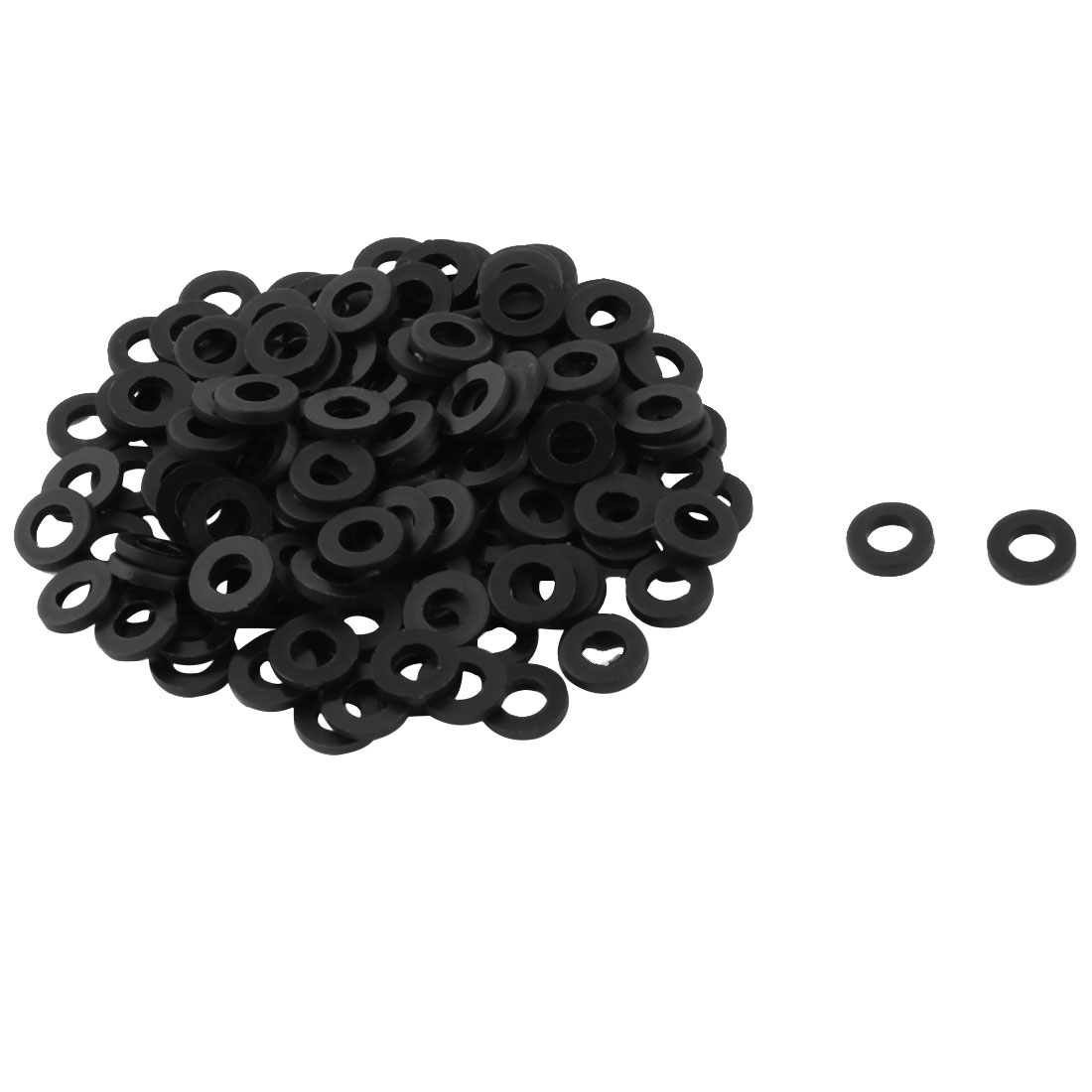 Plastic Replacement Insulating Flat Washer Gasket Black 6mm x 3mm x 1mm 100 Pcs - image 1 de 1