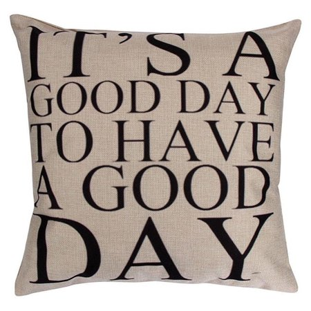 Tayyakoushi Brilliant Have A Good Day Words Pattern Cushion Cover Pillow Case High quality Canvas Square Decorative
