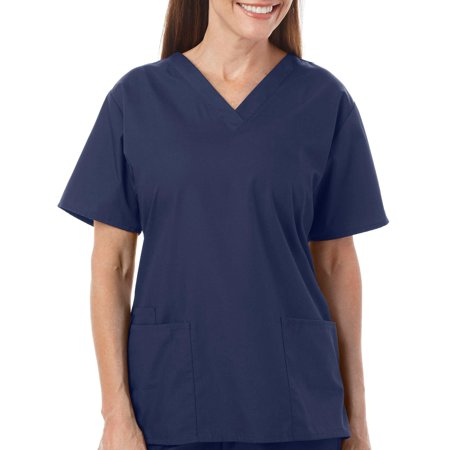 Royal Lane Womens V-Neck Solid Scrub Top
