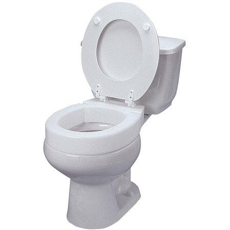 DMI Hinged Elevated Toilet Seat Riser, Elongated