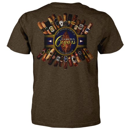 The Finest Choice Hand Select Famous Cigars T-shirt (Medium, Brown Heather)