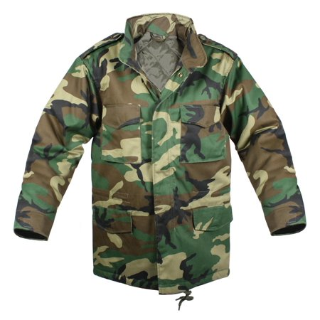 Kids Army Style Woodland Camo  M-65 Field (Army Field Uniform)