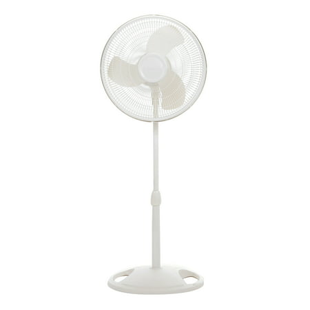 "Lasko 16"" Oscillating Pedestal Stand 3-Speed Fan, Model #S16200, White"