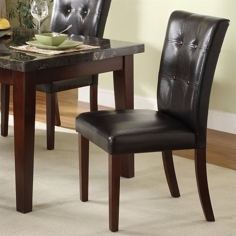 Trent Home Decatur Dining Chair in Espresso and Cherry (Set of 2)