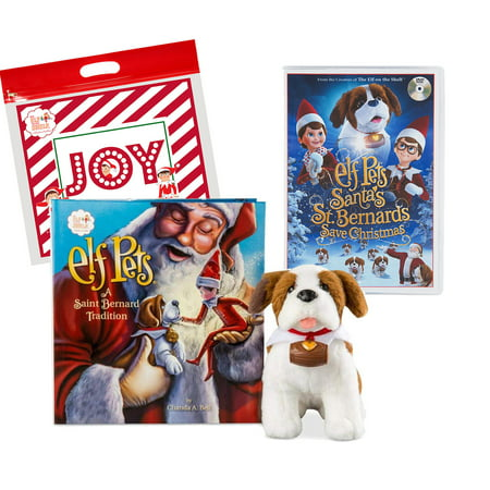 The Elf on the Shelf: A Christmas Tradition Elf Pets St. Bernard with DVD Santa's St. Bernards Save Christmas Set and Exclusive Joy Travel Bag ()